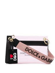 Dolce And Gabbana Logo Print Clutch Pink