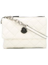 Moncler Poppy Quilted Crossbody Bag Women Calf Leather One Size White