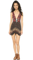 Free People Heat Wave Summer Tunic Summer Red Combo