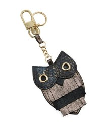 Neiman Marcus Golden Owl Key Chain Multi