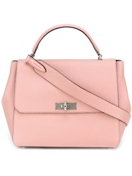 Bally Classic Tote Pink And Purple