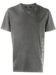 Zadig And Voltaire Contrast Logo T Shirt Grey