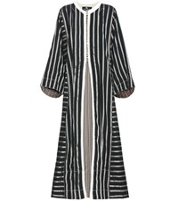 Etro Striped Coat Black