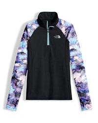 The North Face Two Tone Stretch Pulse Half Zip Pullover Black Size Xxs Xl