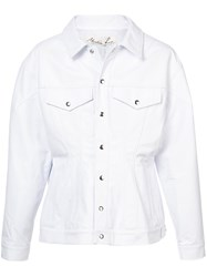 Martine Rose Buttoned Jacket Leather White