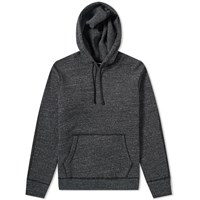 Reigning Champ Side Zip Popover Hoody Black