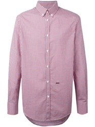 Dsquared2 Button Collar Checked Shirt