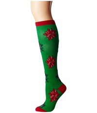 Socksmith Christmas Bows Green Women's Crew Cut Socks Shoes