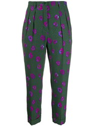Christian Wijnants Floral Trousers Green
