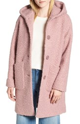 Halogen Hooded Coat Mauve