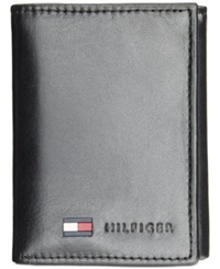Tommy Hilfiger Leather Trifold Wallet Black
