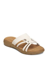 Aerosoles Wipaway Faux Leather Sandals White Snake