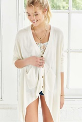 Silence And Noise Silence Noise Stella Modern Cardigan Ivory