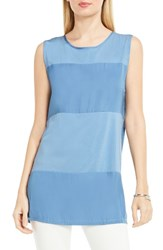 Vince Camuto Women's Mixed Media Tank Stormy Blue