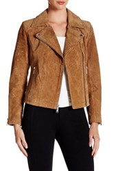 Bcbgeneration Suede Moto Jacket Brown