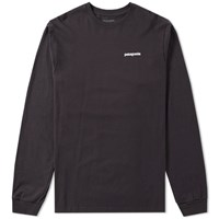 Patagonia Long Sleeve P6 Logo Tee Black