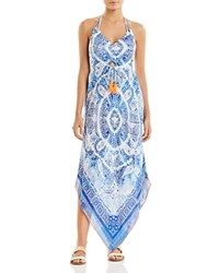 Surf Gypsy Maxi Dres Swim Cover Up Navy
