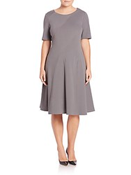 Lafayette 148 New York Ponte Fit And Flare Dress Rock