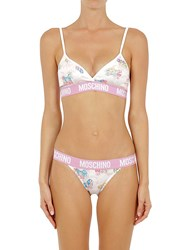 Moschino Little Pony Printed Bra And Briefs