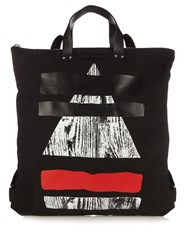 Mcq By Alexander Mcqueen Canvas Tote Backpack Black Multi