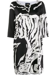 Class Roberto Cavalli Tiger Print T Shirt Dress Black