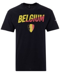 Fifth Sun Belgium Soccer National Team Gym Wedge World Cup T Shirt Black Yellow Red