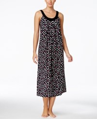 Alfani Satin Trim Printed Nightgown Only At Macy's Black Multi Dots