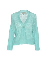 Just For You Knitwear Cardigans Turquoise