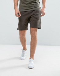 Selected Homme Jersey Shorts With Branding Black Olive Green