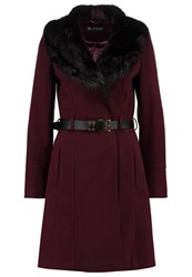 Miss Selfridge Classic Coat Burgundy Bordeaux