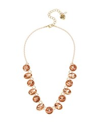 Betsey Johnson Faceted Stone Necklace Pink