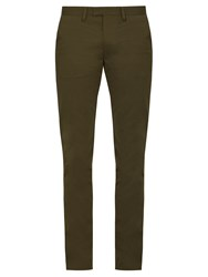 Acne Studios Max Stretch Cotton Chino Trousers Green
