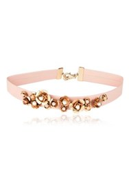 Danielle Nicole Blossom 14K Imitation Goldplated Leather Choker Necklace Pink Gold