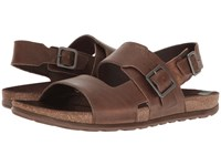 Merrell Downtown Backstrap Buckle Dark Earth Men's Sandals Brown