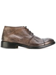 Ink Mid Derby Shoes Buffalo Leather Leather Grey