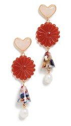 Madewell Garden Mix Statement Earrings Maple Glow Multi