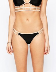 New Look Caged Bikini Brief Black