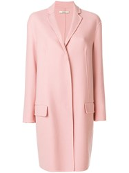 Odeeh Classic Fitted Coat Polyester Virgin Wool Pink Purple