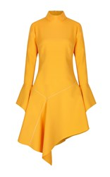 Paper London Rufus Flared Crepe Dress Yellow