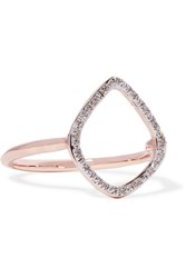 Monica Vinader Riva Rose Gold Vermeil Diamond Ring M