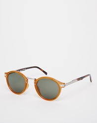 Asos Vintage Round Sunglasses Brown