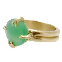 Lori Kaplan Jewelry Chrysoprase Organic Prong Ring Gold