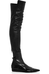 Roland Mouret Aigret Leather Over The Knee Boots Black
