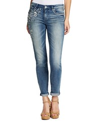 Jessica Simpson Forever Rolled Skinny Fit Jeans Blue