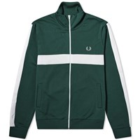 Fred Perry Contrast Stripe Track Top Green