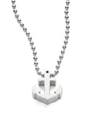 Alex Woo Anchor Icon Necklace Silver