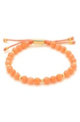 Gorjana Women's Power Semiprecious Stone Beaded Bracelet Pink Coral Gold