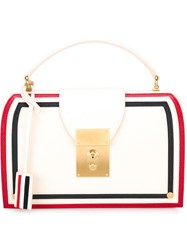 Thom Browne Panelled Tote White