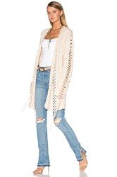 For Love And Lemons Knitz Wythe Cardigan Cream