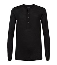 Hanro Thermal Button Tee Male Black